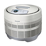 Honeywell HEPA air purifier in the color white