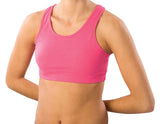 Black Sports Bra with Racer Back Design-Black- Youth