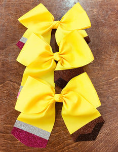School Pencil Cheer Bow