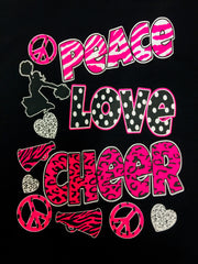 """Peace Love Cheer"" Tee"