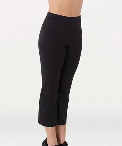 Adult Relaxed Leg Crop Pant- (Black/Gray)- BWP787