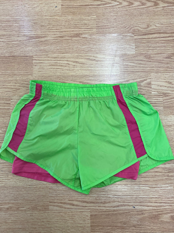 Green and Pink Stripe Velocity Short