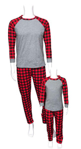 Christmas Buffalo Plaid Pajama Set