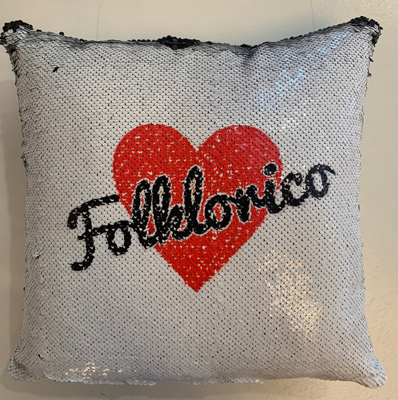 Folklorico Reversible Sequin Pillow