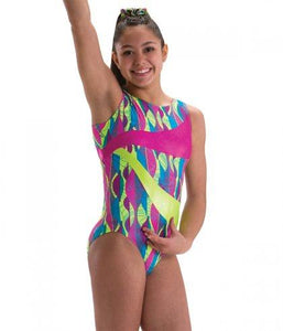 DOUBLE WAVES TANK LEOTARD-Girls