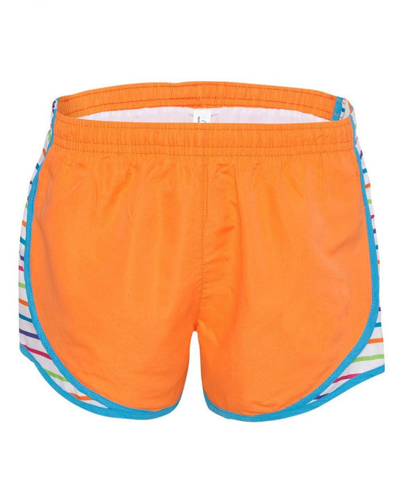 Orange/Striped Velocity Short