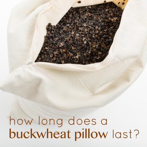 How long does a sobakawa buckwheat hull pillow last?