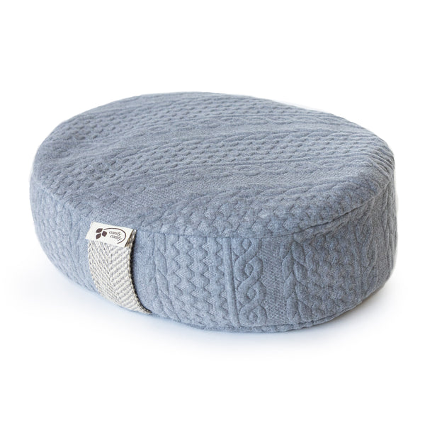 Buckwheat Filled Knit Meditation Cushion