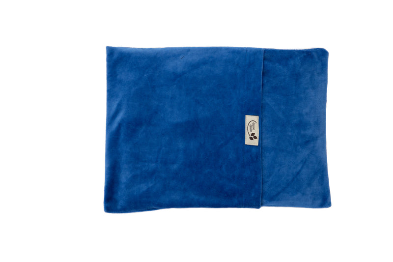 ComfyWarmer Flaxseed Heat Therapy Wrap - ComfyComfy in Organic Velour blue