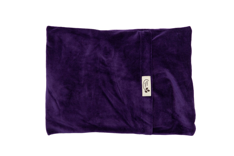 ComfyWarmer Flaxseed Heat Therapy Wrap - ComfyComfy in purple in Organic Velour