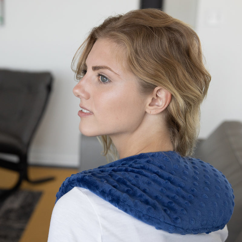 Neck Cozy Flaxseed Heat Wrap - releive shoulder