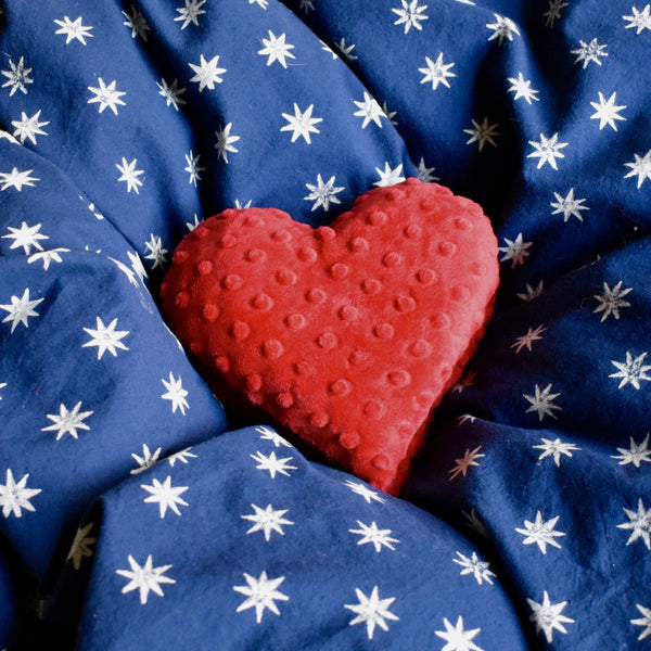 Flaxseed heart warmer  - set of two