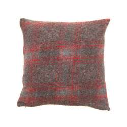Square Buckwheat Cushion - Red Plaid