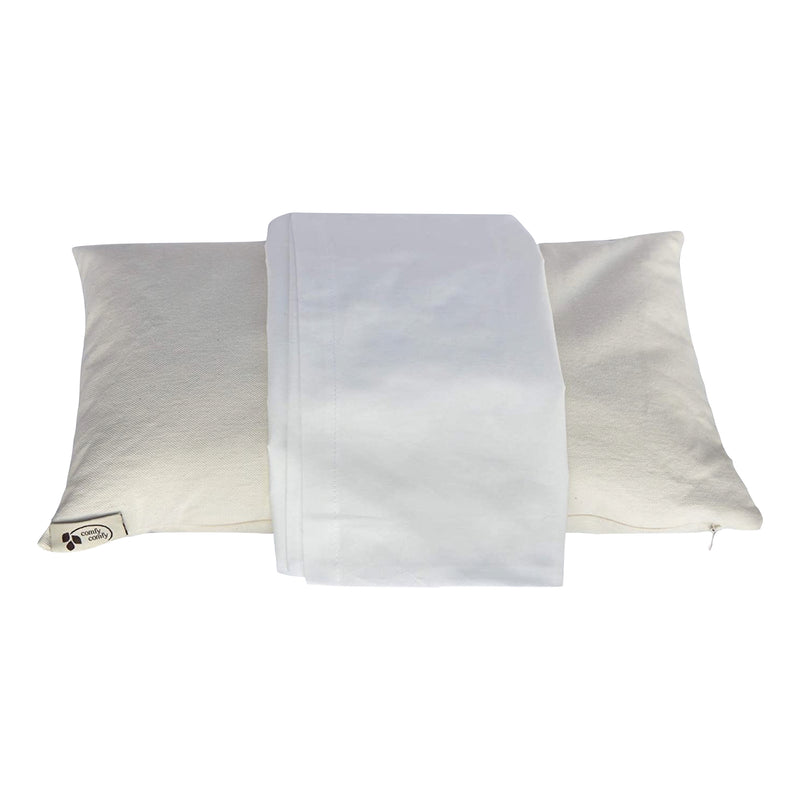 Buckwheat Travel Pillow - White