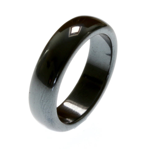 Rounded Edge Hematite Ring - Wide Range of Sizes - Zen Crystals