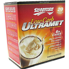Champion Nutrition Low Carb Ultramet Vanilla Cream