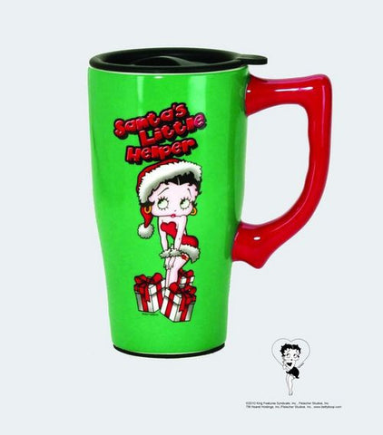 "Betty Boop ""Santa's Little Helper"" Ceramic Travel Mug - Wonder Pop"