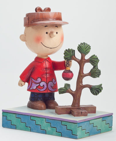 Charlie Brown with Tree Jim Shore Figurine - Wonder Pop