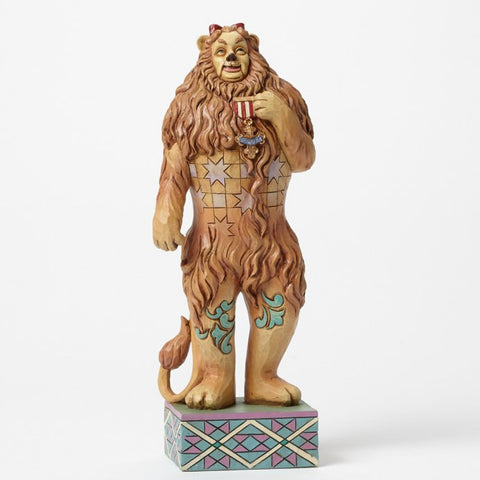 "Cowardly Lion w/Medal of Courage ""If I Only had the Nerve"" Jim Shore Figurine , Jim Shore Figurine - Enesco, Living for Pop"