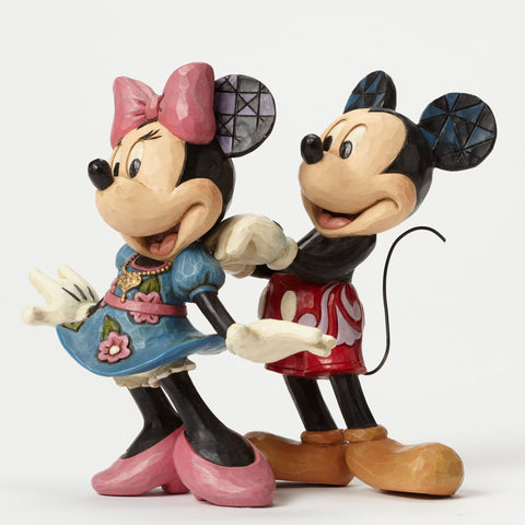 "Mickey & Minnie with Necklace ""For My Sweetheart"" Jim Shore Figurine - Wonder Pop"