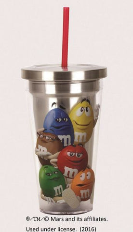 M&M's Stainless Steel Travel Cup with Straw - Wonder Pop