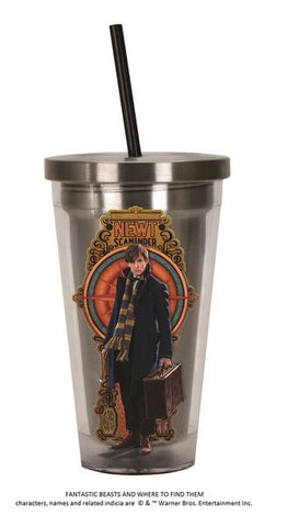 Newt Stainless Steel Travel Cup with Straw - Wonder Pop