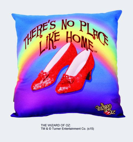 "Ruby Slippers ""There's No Place Like Home"" Pillow - Wonder Pop"