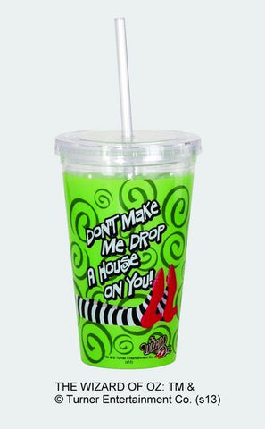 """Don't Make Me Drop a House!"" Acrylic Tumbler w/Straw & Lid - Wonder Pop"