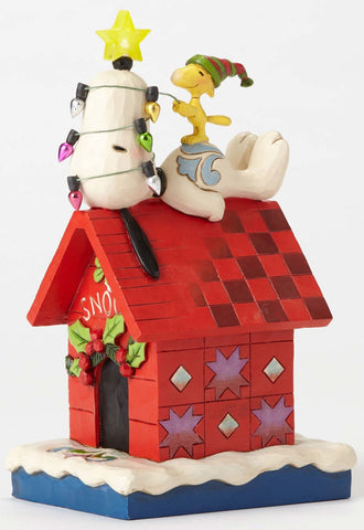 Snoopy Doghouse Light Star Jim Shore Figurine