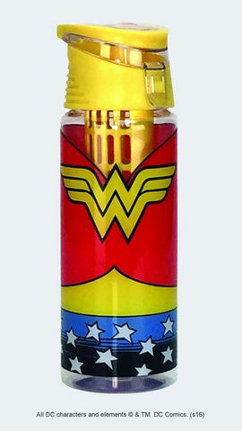 Wonder Woman Logo Infuser Water Bottle - Wonder Pop