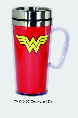 Wonder Woman Logo Stainless Steel Travel Mug - Wonder Pop