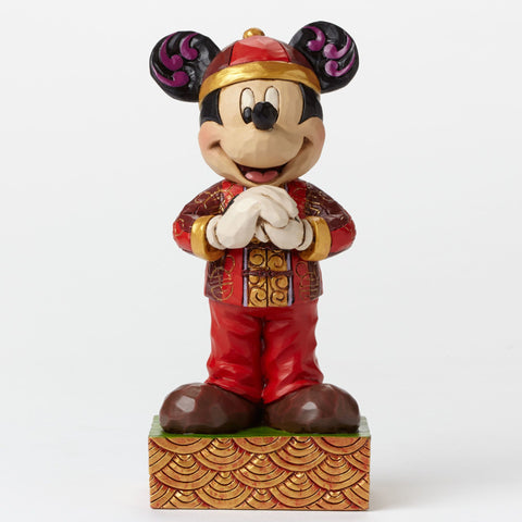 "Mickey in China ""Greetings from China"" Jim Shore Figurine - Wonder Pop"