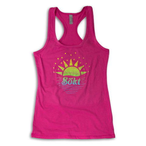 Ladies Sunrise Tank - Raspberry
