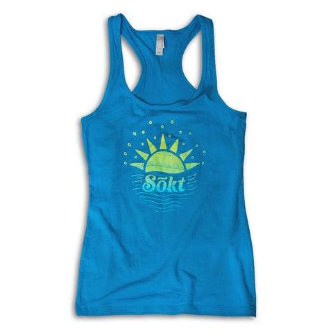 Ladies Sunrise Tank - Turquoise