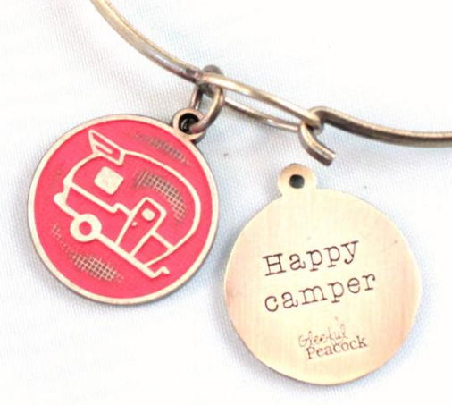 Happy Camper Token Necklace