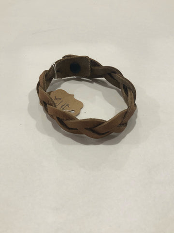 Medium Tan Braided Bracelet