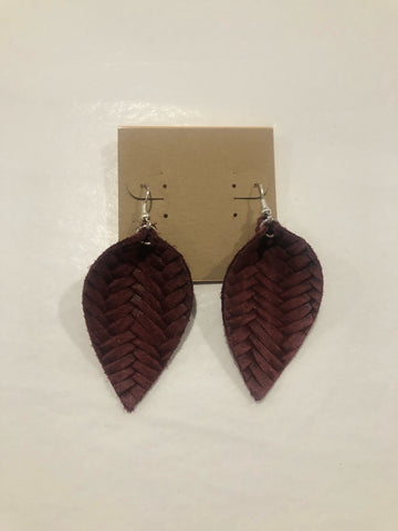 Amy Anne's Maroon Earrings