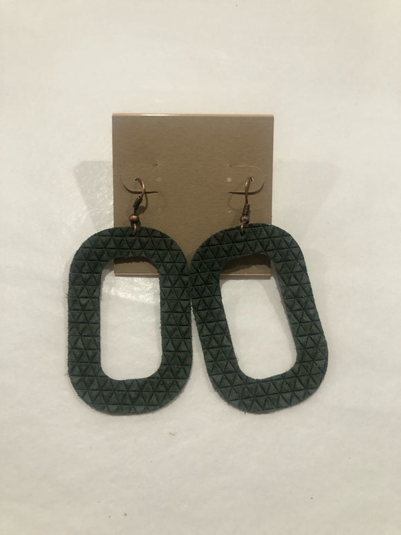 Amy Anne's Green Rectangle Earrings