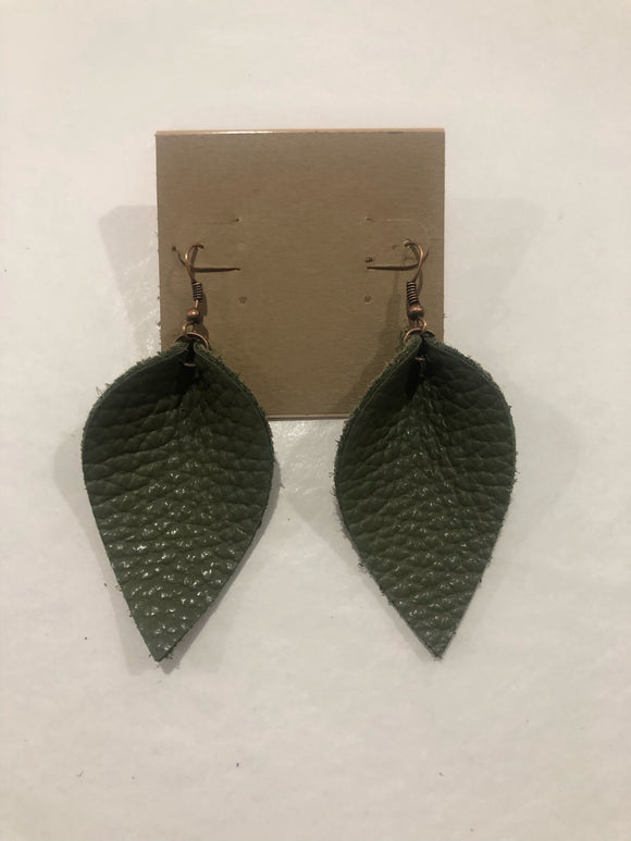 Amy Anne's Hunter Green Earrings