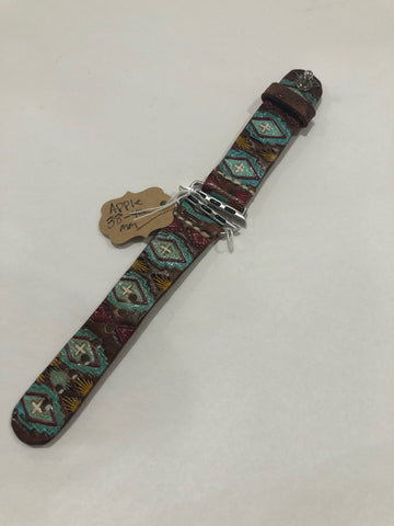 Leather Turquoise Apple Watch 38-40 mm