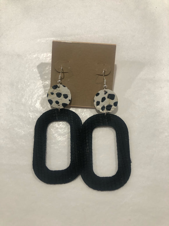 Amy Anne's Black and White Earrings