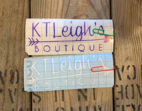 Kt Leigh's Logo Decal