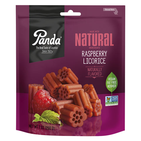 Panda® Original All Natural Soft Raspberry Licorice - 7 oz.