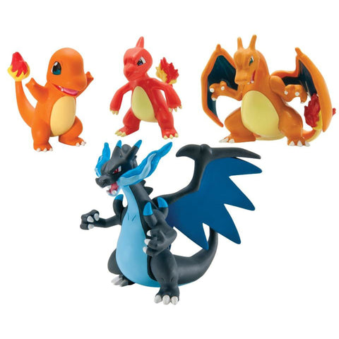 *NEW* Pokémon Trainer's Choice 4 Figure Gift Pack - Charmander, Charmeleon, Charizard and Mega Charizard X
