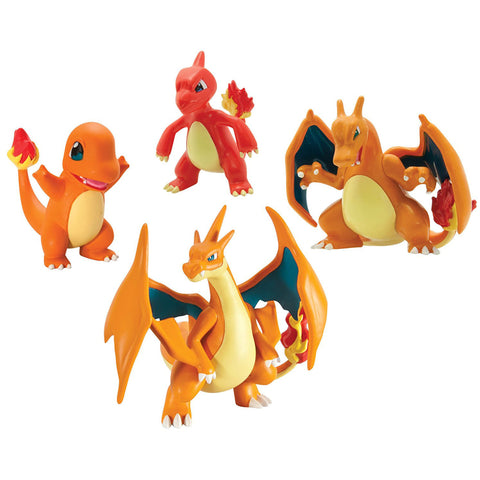 *NEW* Pokémon Trainer's Choice 4 Figure Gift Pack - Charmander, Charmeleon, Charizard and Mega Charizard Y