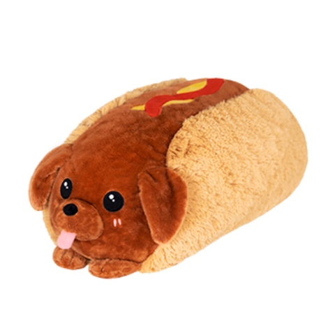 Squishable® Snugglemi Snackers: Dachshund Hot Dog - 5 inch