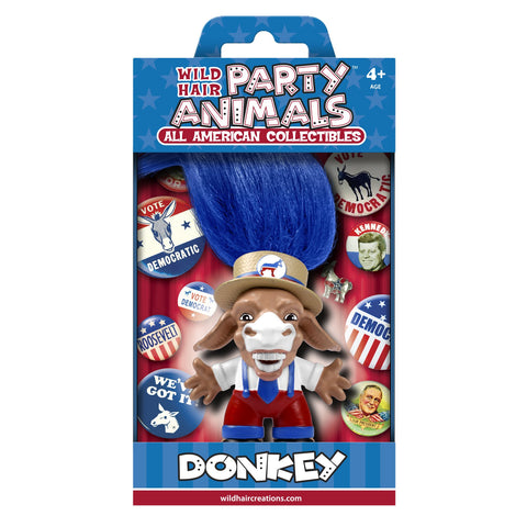Wild Hair Creations Party Animals™ All American Collectibles - DEMOCRAT Donkey