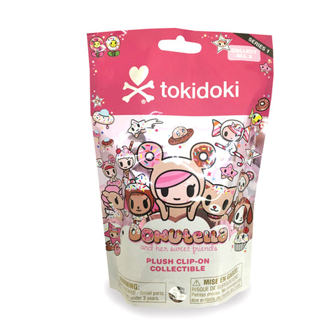 TokiDoki - Donutella and Her Sweet Friends Plush Clip-On Keychain - Series 1 Collectible Blind Pack