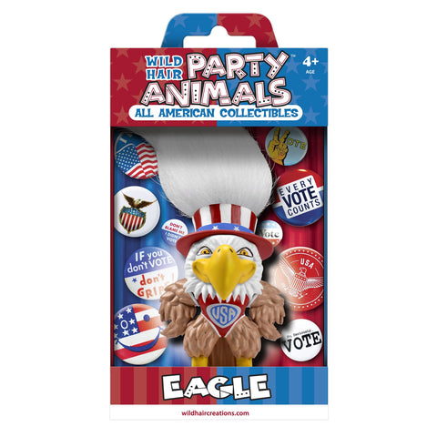Wild Hair Creations Party Animals™ All American Collectibles - INDEPENDENT Eagle