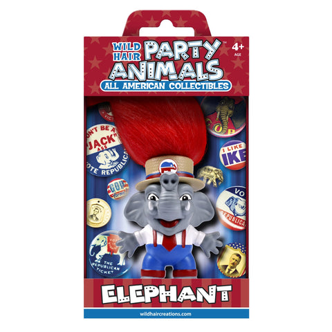 Wild Hair Creations Party Animals™ All American Collectibles - REPUBLICAN Elephant
